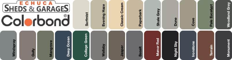 Echuca Sheds Colorbond